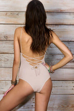 MAYLANA Kamila Beige One Piece-OrchidBoutique