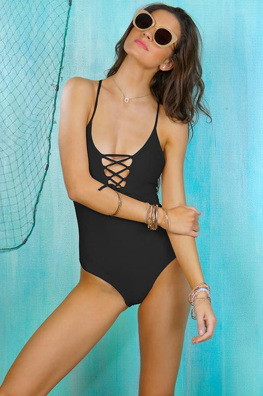 MAYLANA Kamila Black One Piece-OrchidBoutique
