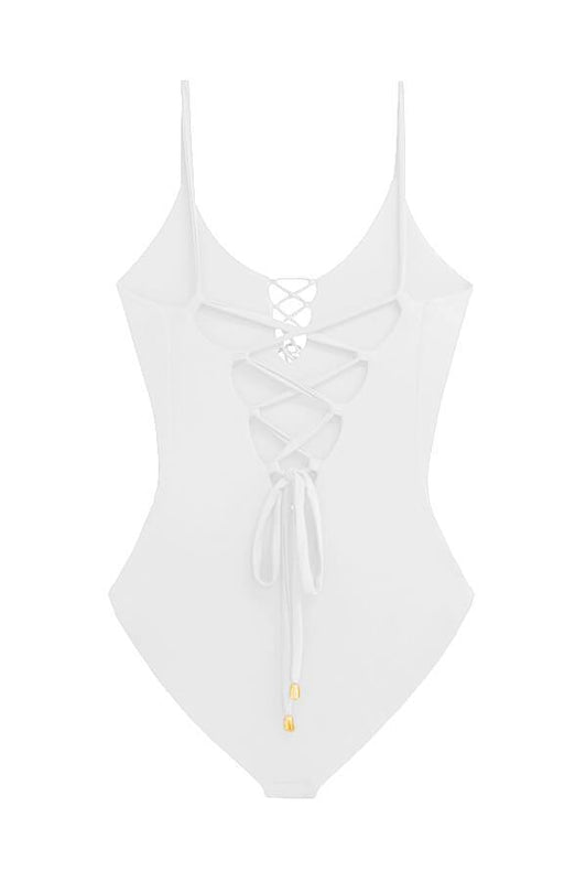 MAYLANA Kamila White One Piece - Size Small-OrchidBoutique