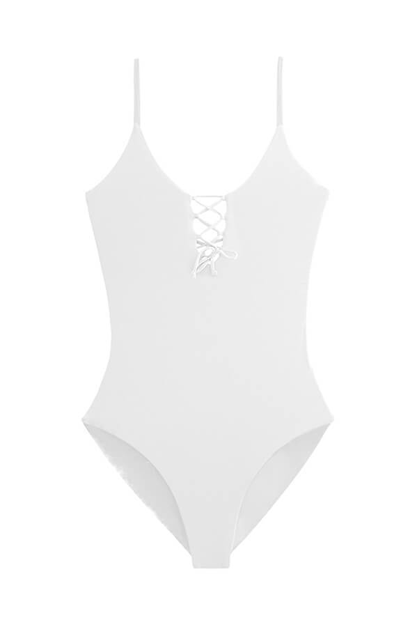 MAYLANA Kamila White One Piece - Size Small