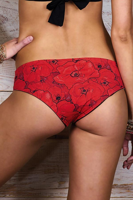 MAYLANA Kara Red Poppies Bottom-OrchidBoutique