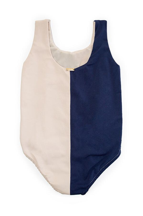 MAYLANA KIDS Ari Navy Beige One Piece