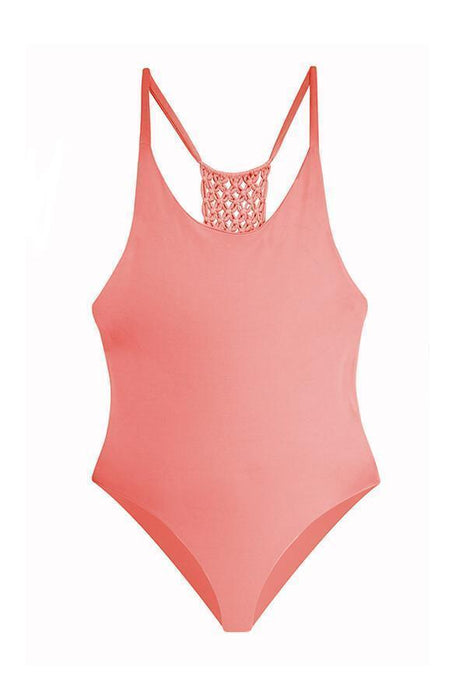 MAYLANA Leif Peach One Piece-OrchidBoutique