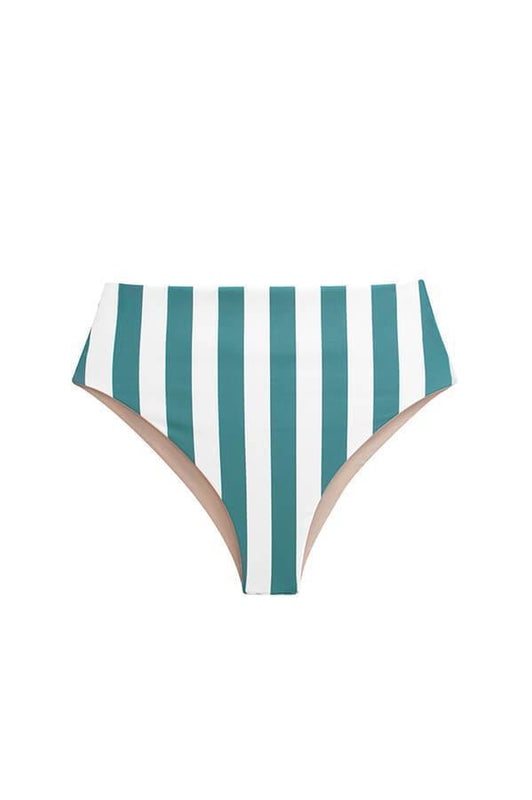 maylana swimsuits high waisted bottom stripes print high cut bikini