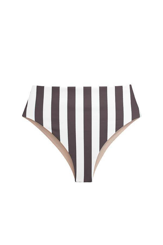 Maylana women high waist bottom with high cut design and stripes print