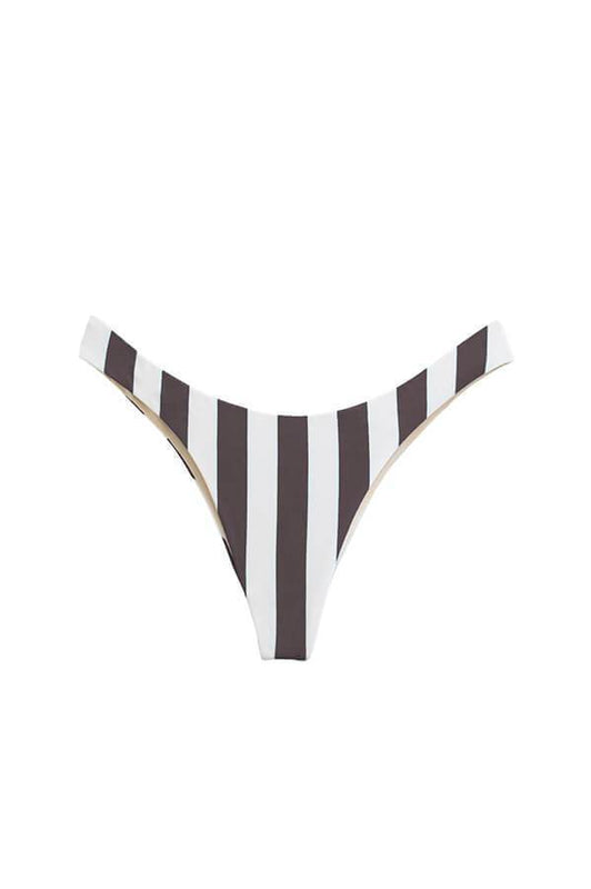 Maylana women high cut bottom with brazilian coverage and stripes print