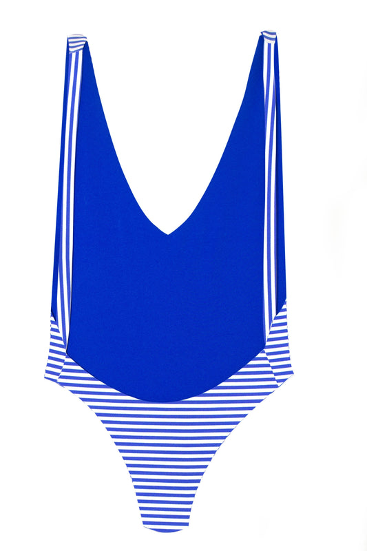 MAYLANA Skylar Blue Stripes One Piece-OrchidBoutique