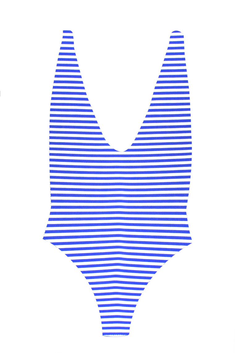 MAYLANA Skylar Blue Stripes One Piece