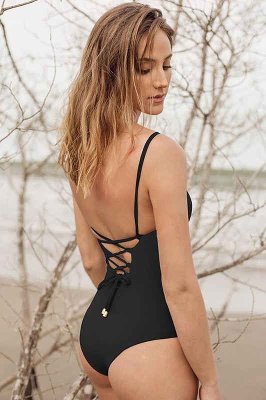 MAYLANA Stasia Black One Piece