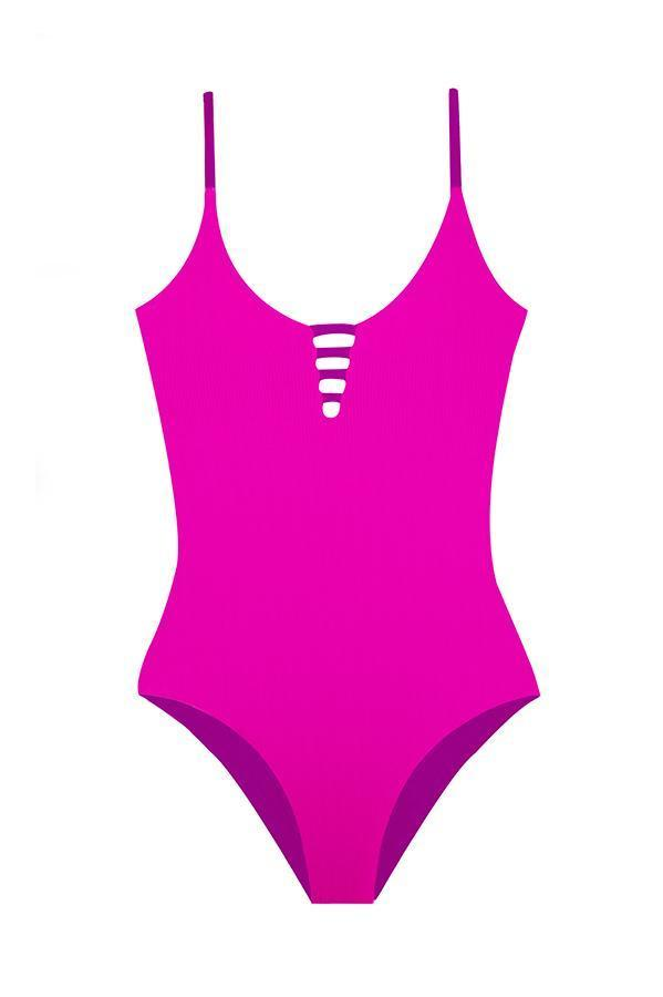 MAYLANA Stasia Pop Ribbed One Piece