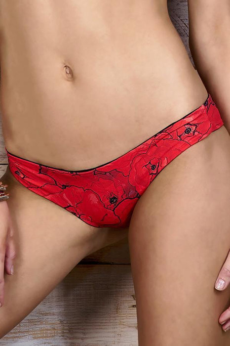MAYLANA Teeny Red Poppies Bottom-OrchidBoutique
