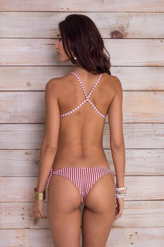 MAYLANA Ulie Red Stripes Bottom-OrchidBoutique