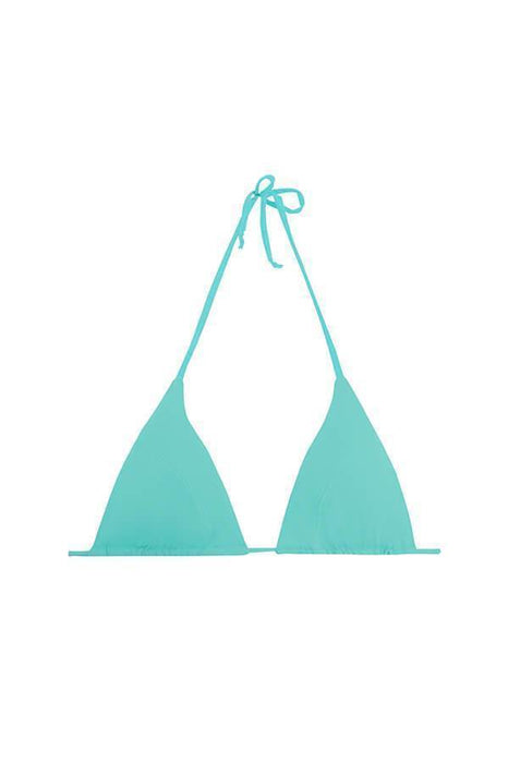 MAYLANA Women's swimsuit top triangle aqua padded bathing suit