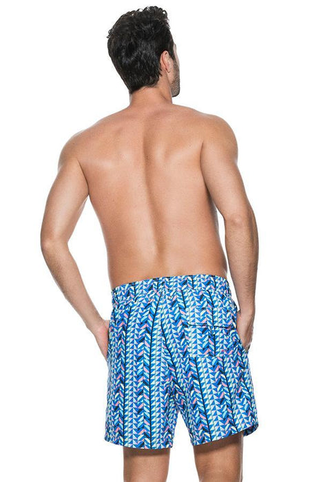 ONDADEMAR Ethnic Blue Sea Fit Men's Short