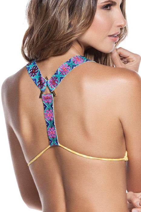 ONDADEMAR Limoncello Adjustable Triangle Top-OrchidBoutique
