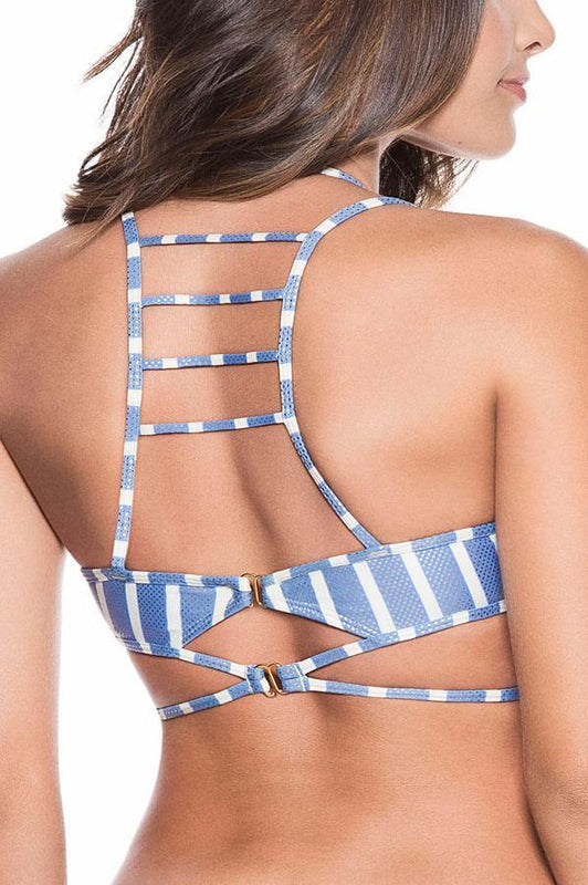 ONDADEMAR Milky Blue Strappy Top-OrchidBoutique