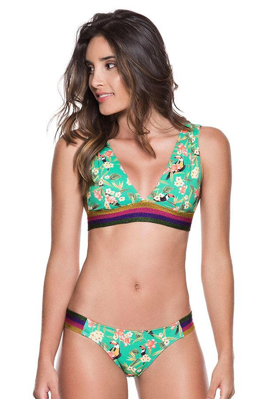Ondademar Women halter banded top provides removable pads with back hook clousure