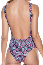 ONDADEMAR Nebulas High Neck One Piece - Size Large