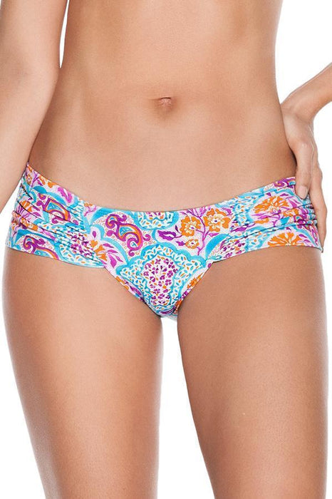 ONDADEMAR Verbena Ruched Side Low Rise Bottom-OrchidBoutique
