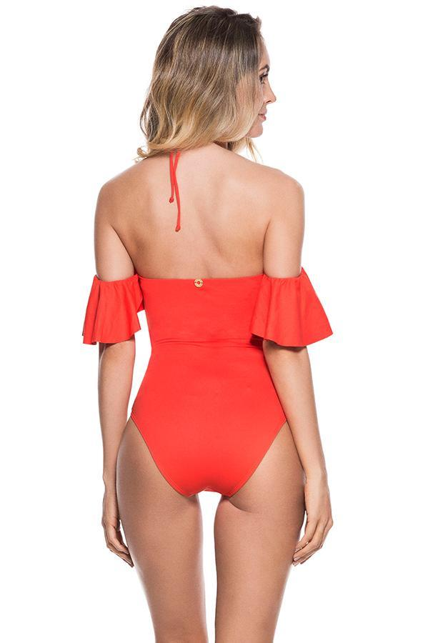 ONDADEMAR Watery Ruffled One Piece