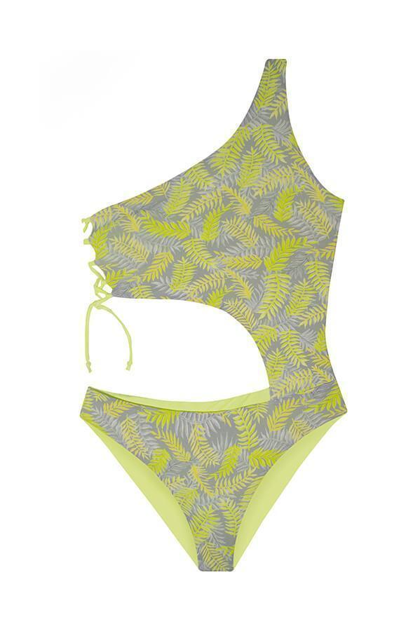 ORCHID LABEL Alden Palm D'or Monokini- Size Small