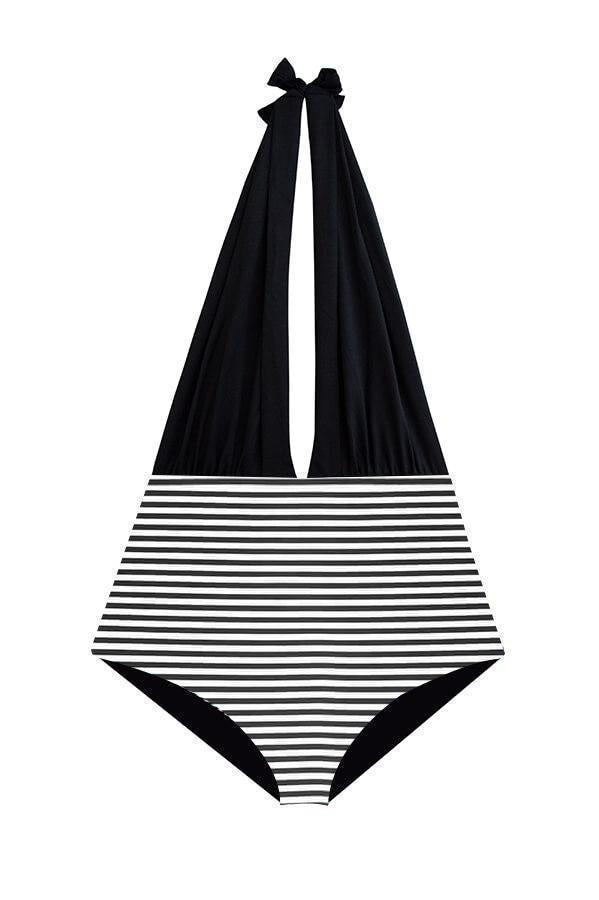 ORCHID LABEL Dani Stripes Monokini