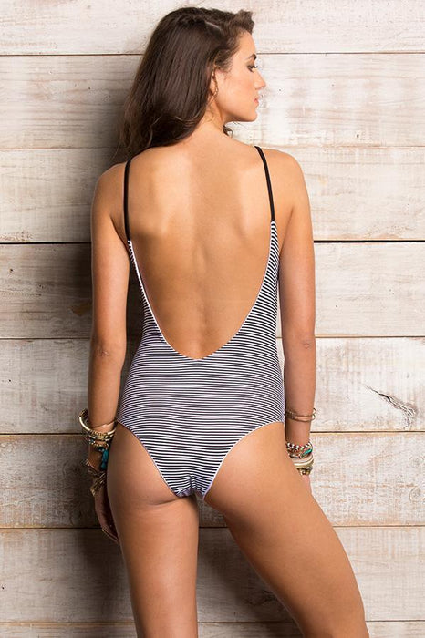 ORCHID LABEL Lina Stripes One Piece-OrchidBoutique