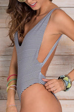 ORCHID LABEL Skylar Stripes One Piece - Size Medium-OrchidBoutique