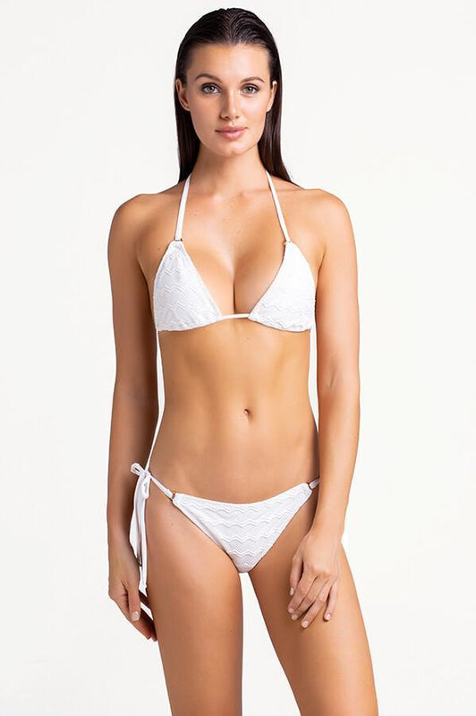 White string bikini bottom with moderate coverage