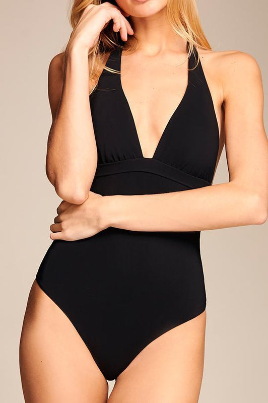 TOUCHE Ebon Halter One Piece-OrchidBoutique