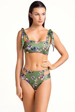 touché swimwear padded bralette top with floral print