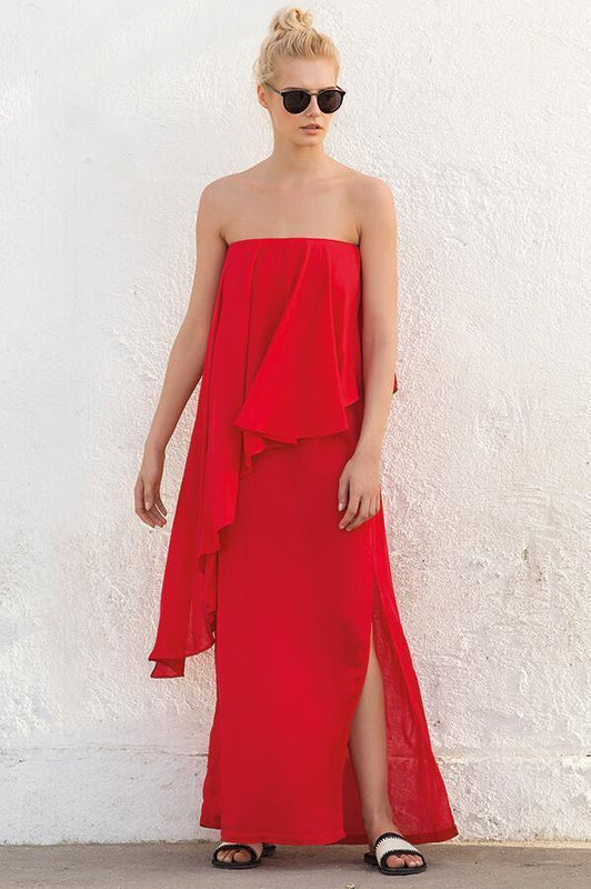 TOUCHÉ Literal Cerise Maxi Dress - Size Small-OrchidBoutique