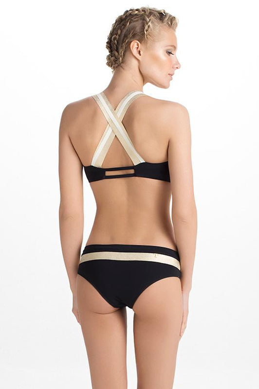 TOUCHÉ Luxury Black Banded Bottom