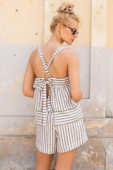 touche swimwear shorts striped design beachwear