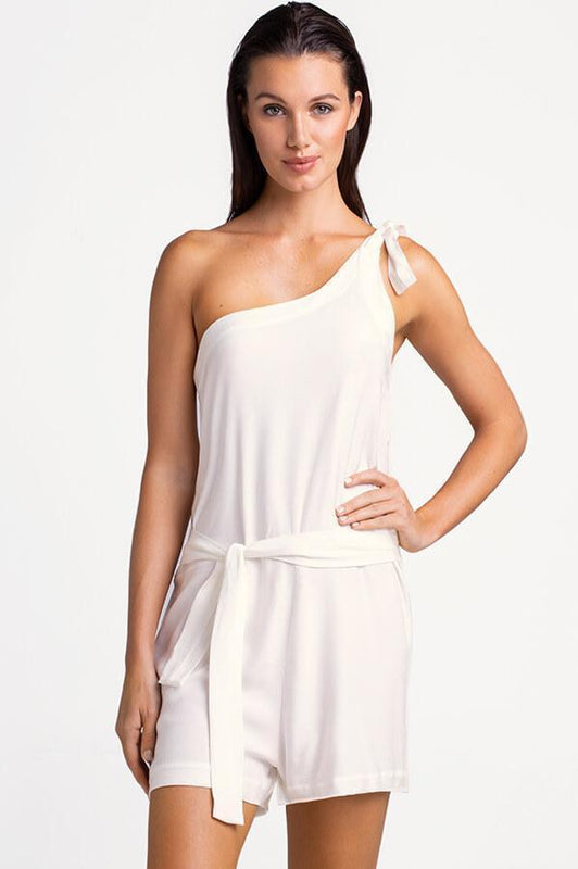 TOUCHÉ Morganite White Romper - Size Medium