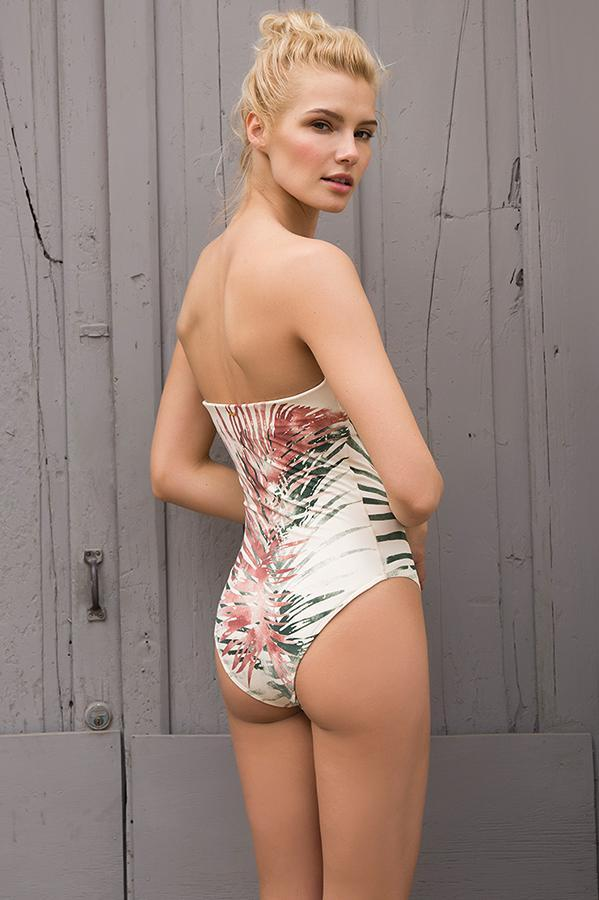 TOUCHÉ Palmboom Bandeau One Piece