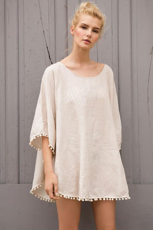 Touche beach cover up with long sleeves