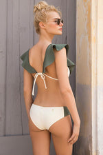 Touche hipster bikini bottom style with moderate coverage rear