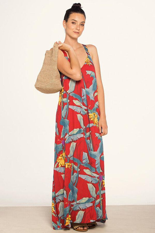 Maxi beach dress with racerback design by Touche Swimwear