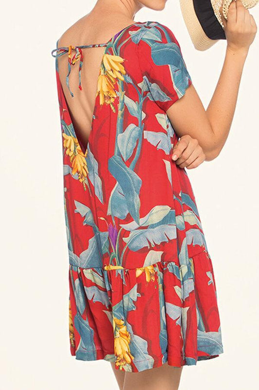 TOUCHE Peony Garden Short Dress
