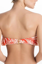 TOUCHÉ Red Tropique Bandeau Top - Size Small-OrchidBoutique