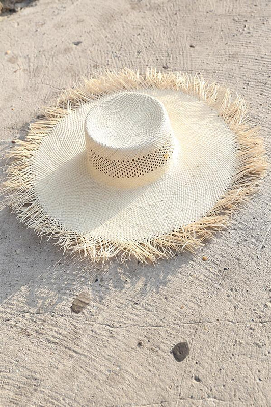 touché swimwear woven hat in natural fibers