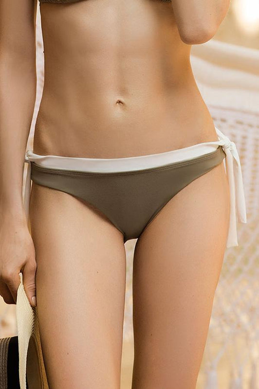TOUCHÉ White Seamless Tie Bottom-OrchidBoutique
