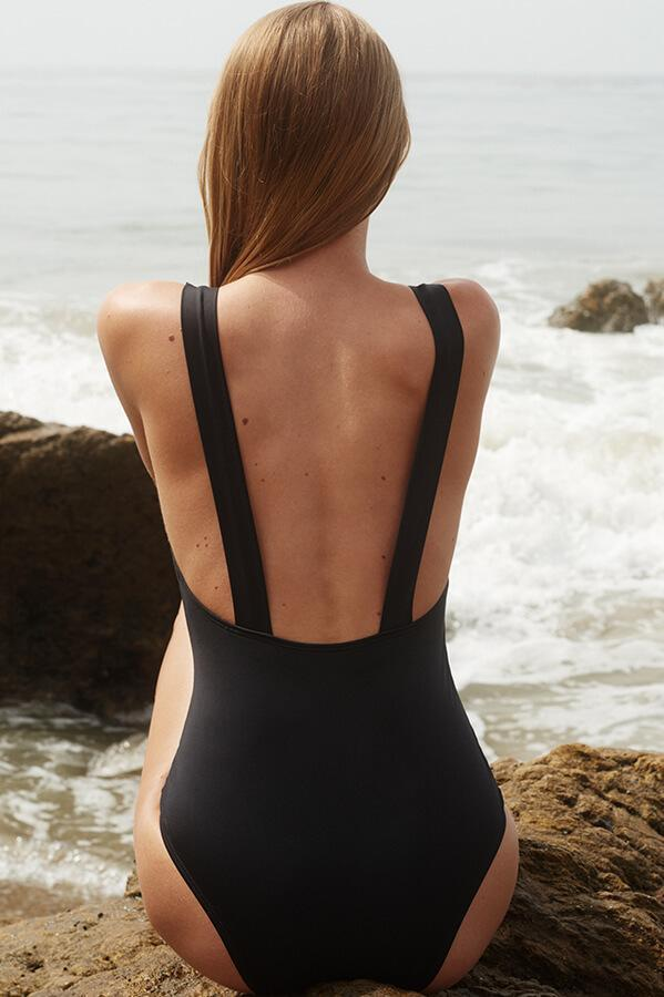 VERDE LIMON Black Miami One Piece