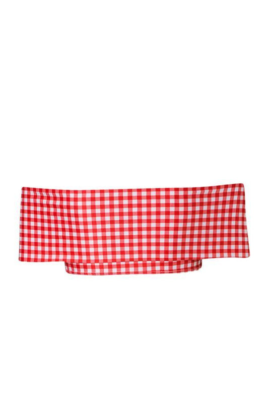 VERDE LIMON Red Picnic Santa Cruz Top