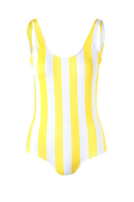 VERDELIMON Yellow Stripes Trinidad One Piece - Size Large