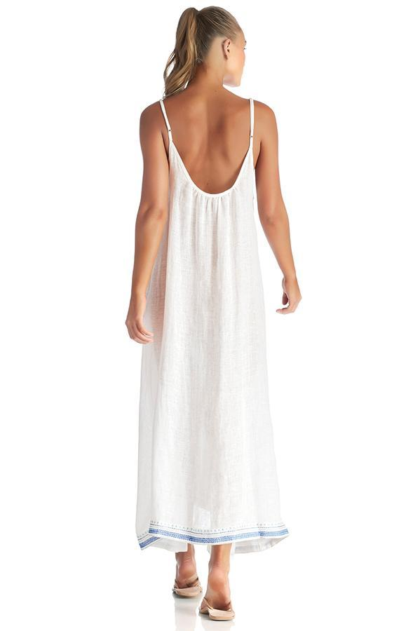 VITAMIN A Baja Border Beach Blue Tulum Maxi Dress
