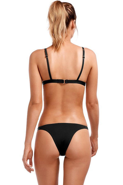 vitamin a woman black brazilian cut coverage bottom features solid print