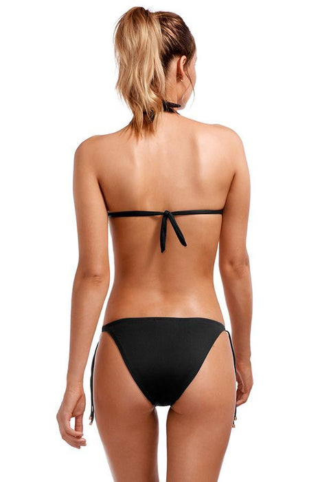 vitamin a black string bottom features solid print with moderate coverage cut at rear