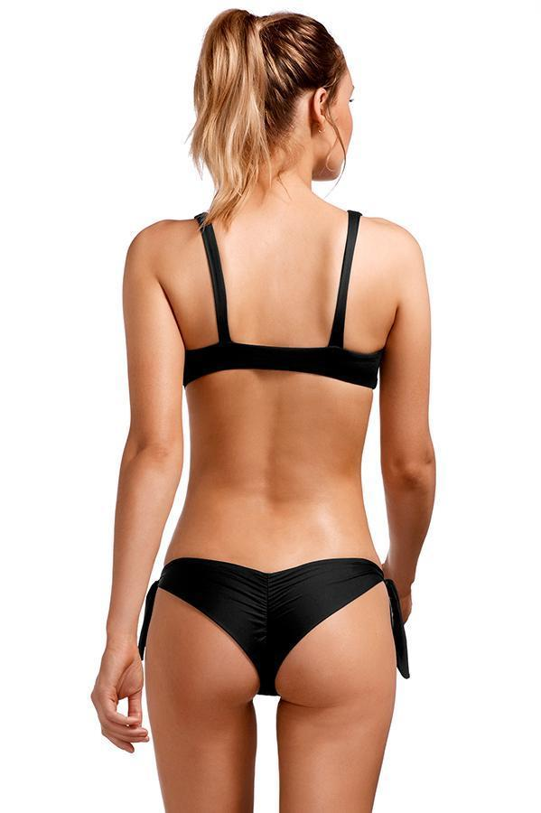 VITAMIN A Black Ecolux Gidget Tie-Side Bottom